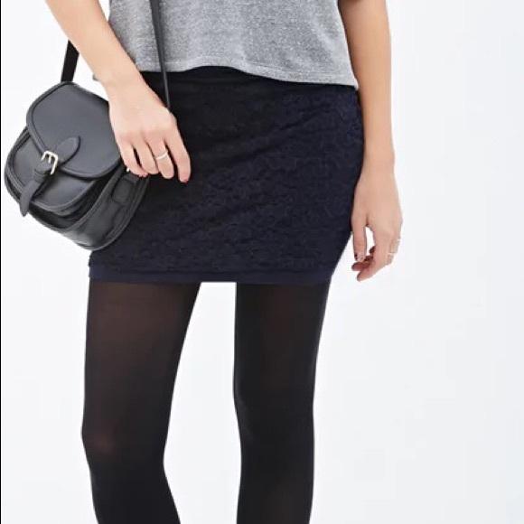 70bfa1fe328b Forever 21 Skirts | Floral Lace Mini Skirt | Poshmark